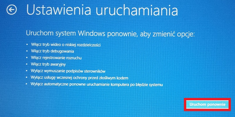 Uruchom tryb awaryjny - Windows