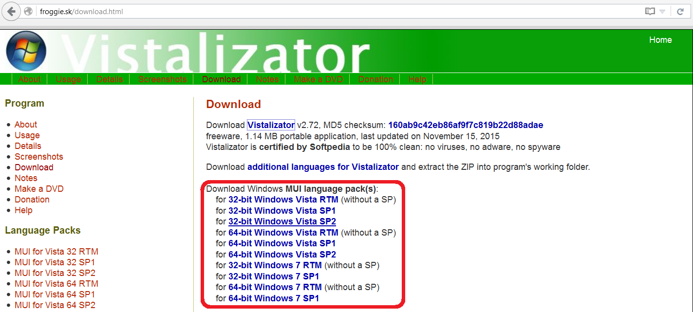 Vistalizator
