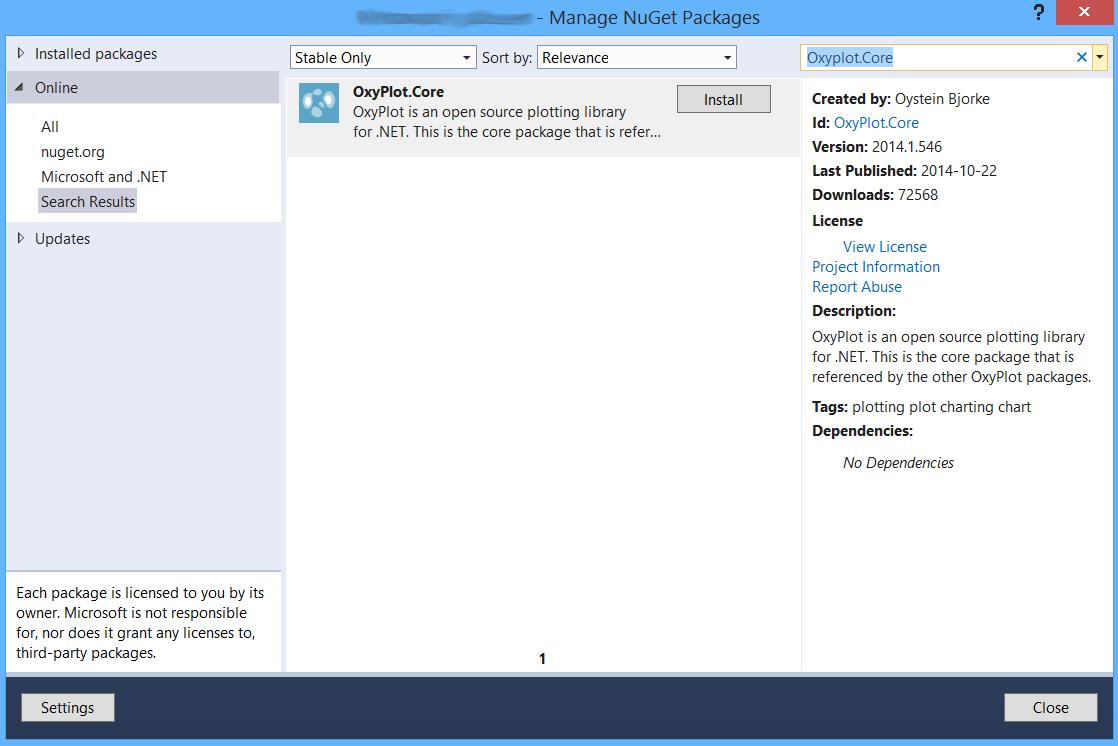nuget - Wykresy w WPF C# - OxyPlot