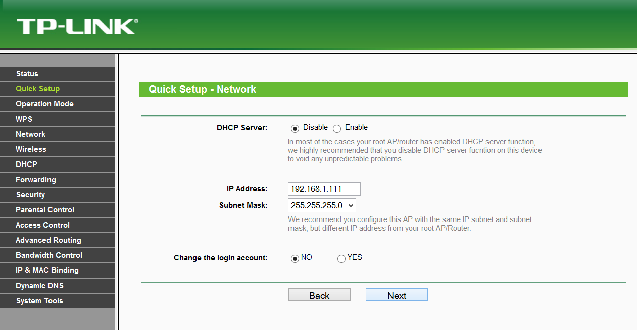 Repeater DHCP