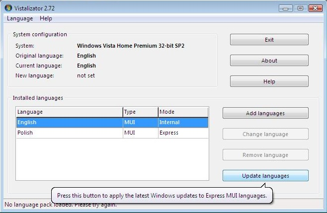 How to change language in Windows?